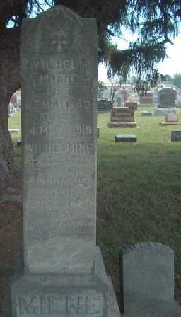 REINHARDT MIENE, WILHELMINE - Allamakee County, Iowa | WILHELMINE REINHARDT MIENE