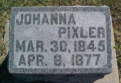 PIXLER, JOHANNA - Allamakee County, Iowa   JOHANNA PIXLER