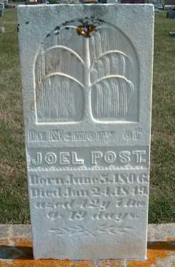 POST, JOEL - Allamakee County, Iowa   JOEL POST