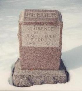 REEDER, FLORENCE - Allamakee County, Iowa | FLORENCE REEDER