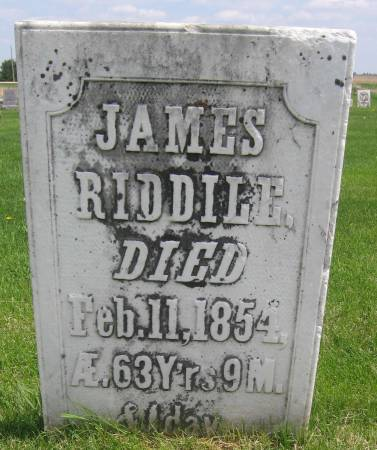 RIDDLE, JAMES - Allamakee County, Iowa | JAMES RIDDLE