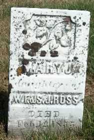 ROSS, MARY J. - Allamakee County, Iowa   MARY J. ROSS
