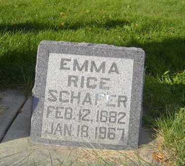 RICE SCHAFER, EMMA - Allamakee County, Iowa | EMMA RICE SCHAFER