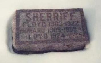 SHERRIFF, FLOYD - Allamakee County, Iowa | FLOYD SHERRIFF
