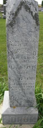 SORUM, ANDREAS O. - Allamakee County, Iowa   ANDREAS O. SORUM