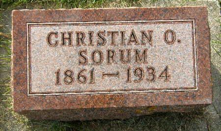 SORUM, CHRISTIAN O. - Allamakee County, Iowa | CHRISTIAN O. SORUM