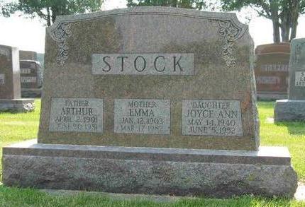 STOCK, JOYCE ANN - Allamakee County, Iowa   JOYCE ANN STOCK