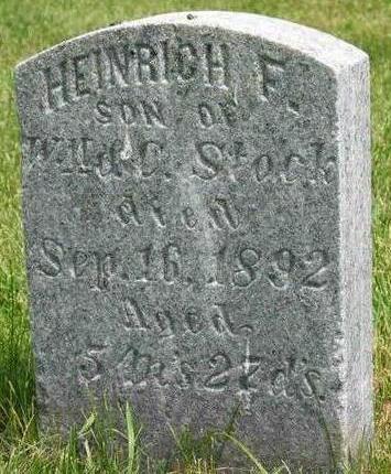 STOCK, HEINRICH F. - Allamakee County, Iowa | HEINRICH F. STOCK