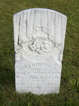 THORNTON, ELIZABETH E. - Allamakee County, Iowa   ELIZABETH E. THORNTON