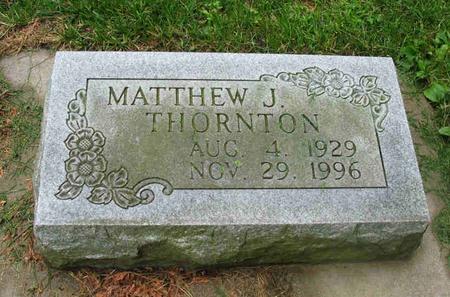 THORNTON, MATTHEW J. - Allamakee County, Iowa   MATTHEW J. THORNTON