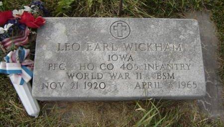 WICKHAM, LEO EARL - Allamakee County, Iowa | LEO EARL WICKHAM
