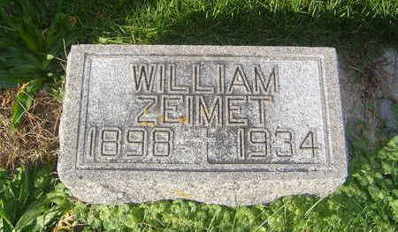 ZEIMET, WILLIAM - Allamakee County, Iowa   WILLIAM ZEIMET