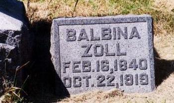 CLAUDE ZOLL, BALBINA - Allamakee County, Iowa | BALBINA CLAUDE ZOLL