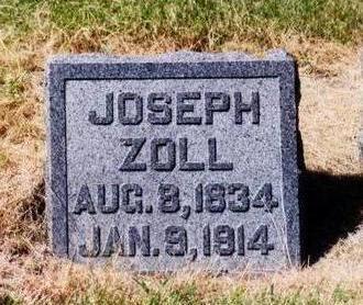 ZOLL, JOSEPH - Allamakee County, Iowa   JOSEPH ZOLL