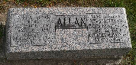 ALLAN, VERN B. - Appanoose County, Iowa | VERN B. ALLAN