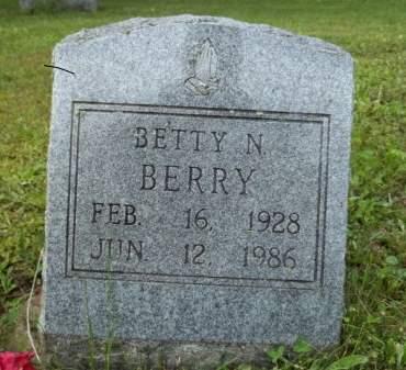 BERRY, BETTY N. - Appanoose County, Iowa | BETTY N. BERRY