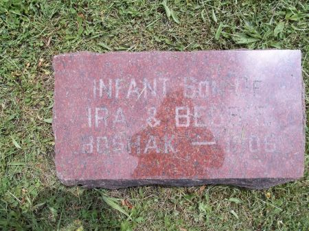 BOSHAK, INFANT SON - Appanoose County, Iowa   INFANT SON BOSHAK