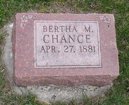 CHANCE, BERTHA M. - Appanoose County, Iowa | BERTHA M. CHANCE