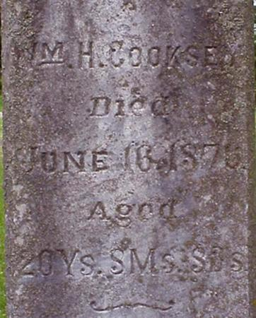 COOKSEY, WILLIAM H. - Appanoose County, Iowa   WILLIAM H. COOKSEY