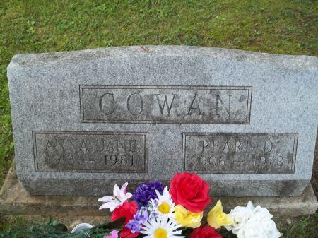 COWAN, ANNA JANE - Appanoose County, Iowa | ANNA JANE COWAN