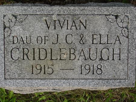 CRIDLEBAUGH, VIVIAN - Appanoose County, Iowa   VIVIAN CRIDLEBAUGH