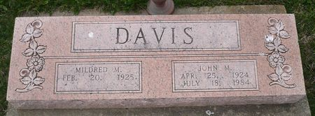 DAVIS, MILDRED M. - Appanoose County, Iowa   MILDRED M. DAVIS