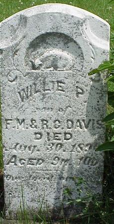 DAVIS, WILLIE P - Appanoose County, Iowa   WILLIE P DAVIS