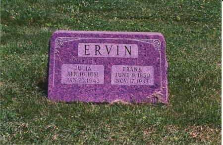 LEONARD ERVIN, JULIA ROSELLA - Appanoose County, Iowa | JULIA ROSELLA LEONARD ERVIN