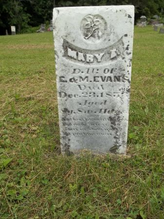 EVANS, MARY E. - Appanoose County, Iowa   MARY E. EVANS