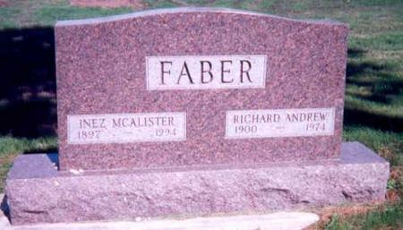 FABER, INEZ MCALISTER AND RICHARD FABER - Appanoose County, Iowa | INEZ MCALISTER AND RICHARD FABER FABER