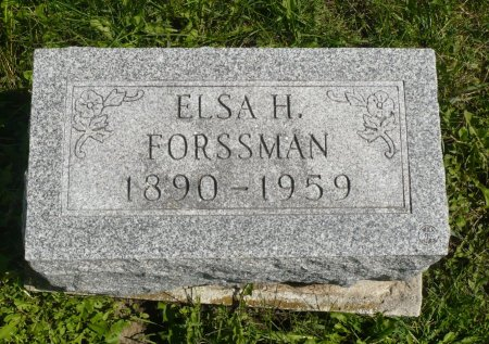 FORSSMAN, ELSA H. - Appanoose County, Iowa | ELSA H. FORSSMAN