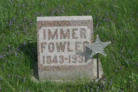 FOWLER, IMMER - Appanoose County, Iowa | IMMER FOWLER