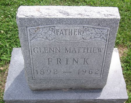 FRINK, GLENN MATTHEW - Appanoose County, Iowa   GLENN MATTHEW FRINK