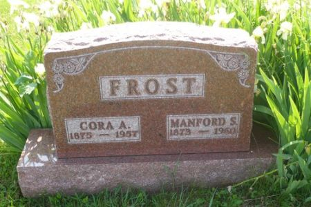 FROST, CORA A. - Appanoose County, Iowa | CORA A. FROST