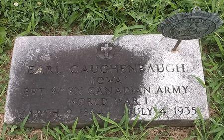 GAUGHENBAUGH, EARL - Appanoose County, Iowa   EARL GAUGHENBAUGH