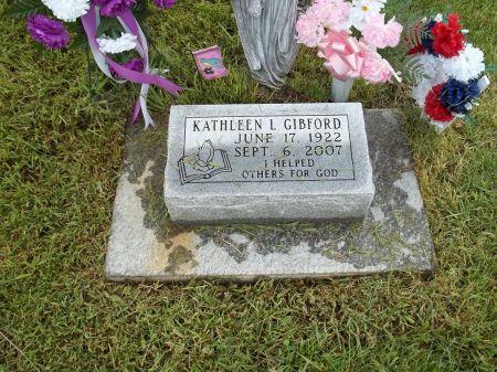 GIBFORD, KATHLEEN L. - Appanoose County, Iowa | KATHLEEN L. GIBFORD