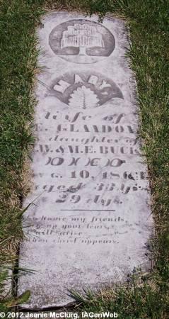 BUCK GLANDON, MARY - Appanoose County, Iowa   MARY BUCK GLANDON