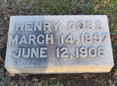 GOSS, HENRY - Appanoose County, Iowa   HENRY GOSS