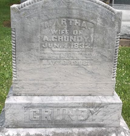 GRUNDY, MARTHA - Appanoose County, Iowa | MARTHA GRUNDY