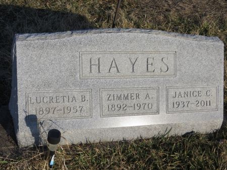 HAYES, JANICE C. - Appanoose County, Iowa | JANICE C. HAYES