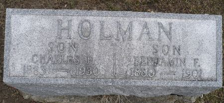 HOLMAN, BENJAMIN F. - Appanoose County, Iowa | BENJAMIN F. HOLMAN