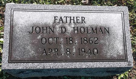 HOLMAN, JOHN D. - Appanoose County, Iowa | JOHN D. HOLMAN