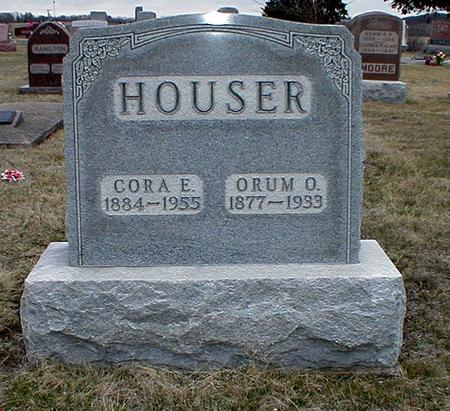 RUCKER HOUSER, CORA - Appanoose County, Iowa | CORA RUCKER HOUSER