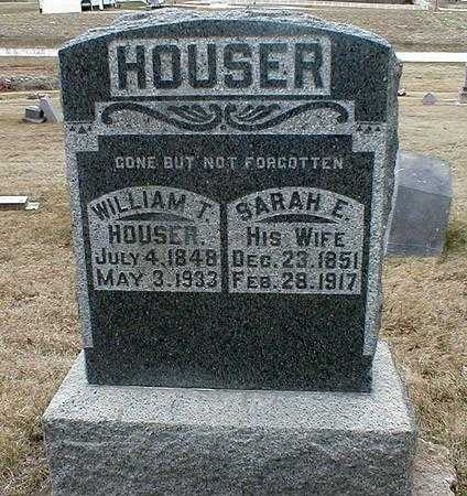 BENGE HOUSER, SARAH E. - Appanoose County, Iowa | SARAH E. BENGE HOUSER