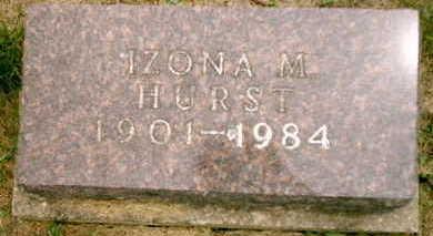 GILL HURST, IZONA M - Appanoose County, Iowa | IZONA M GILL HURST
