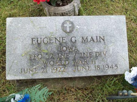 MAIN, EUGENE G. - Appanoose County, Iowa   EUGENE G. MAIN