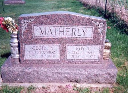 MATHERLY, CECIL AND ROY - Appanoose County, Iowa | CECIL AND ROY MATHERLY