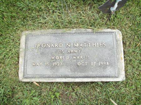 MATTHIES, LEONARD N. - Appanoose County, Iowa   LEONARD N. MATTHIES