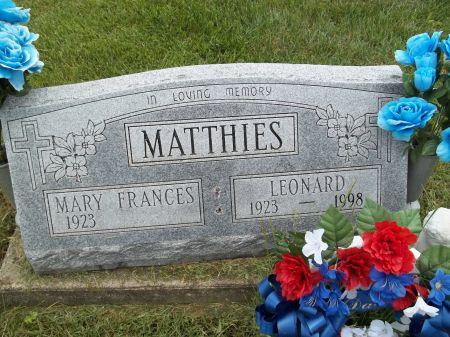 MATTHIES, LEONARD - Appanoose County, Iowa | LEONARD MATTHIES