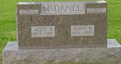 MCDANEL, ALICE AND JOHN W. - Appanoose County, Iowa | ALICE AND JOHN W. MCDANEL